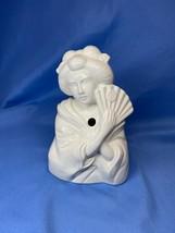 Vintage White Ceramic Geisha Girl Tiki Style Mug Figurine Planter Japan - £7.26 GBP