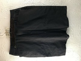 Chaps Misses 14 Black Twill Solid Pencil Skirt - $13.98
