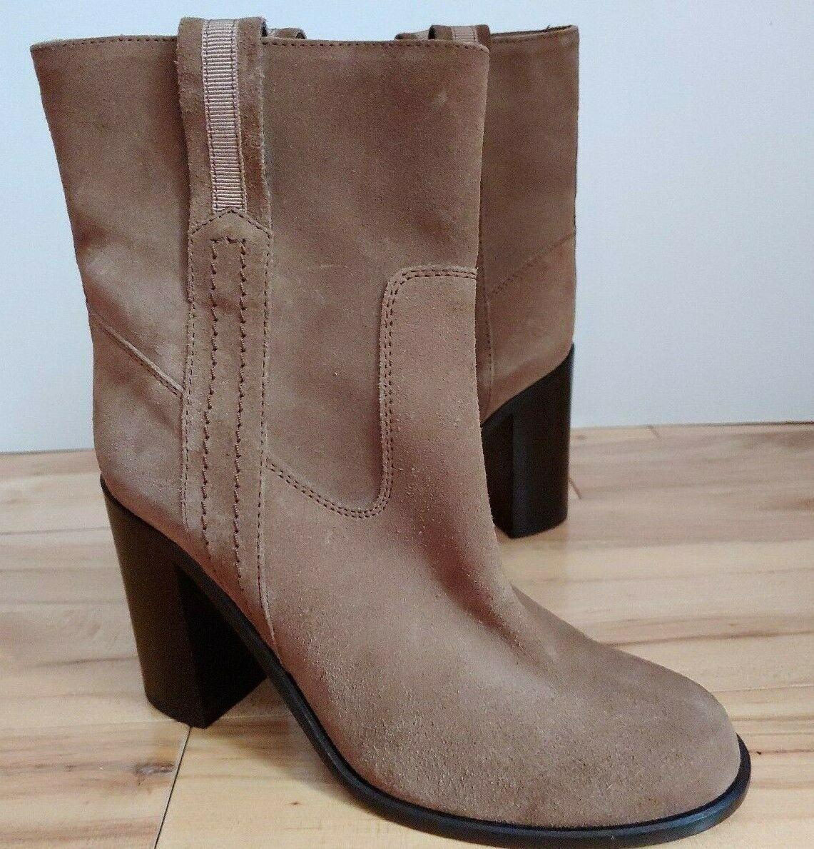 "Kate Spade New York Women's Suede Baise Boot mid calf sz 6M tan tobacco 3.5""Heel - $94.32"