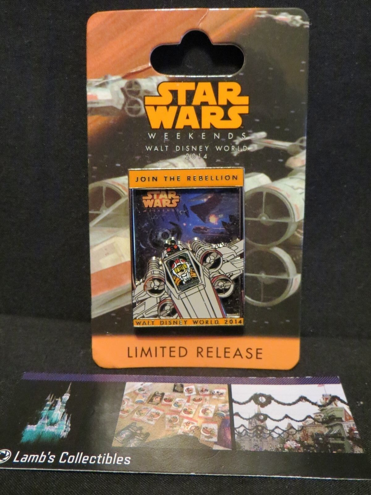 Primary image for Mikey X wing Logo Pin 2014 Star Wars Weekend Disney Parks pin