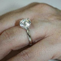 1.80Ct Round Cut VVS1 White Solitaire Diamond Engagement Ring in 14K Whi... - £198.54 GBP