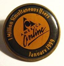 América Online Aol Pin de Solapa - Vintage Enero 1999 Million Simultáneas - $39.59
