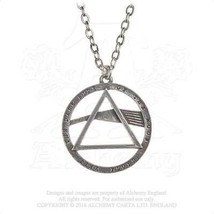 Alchemy Gothic PP506 Pink Floyd: Dark Side prism Necklace Pendant - $24.72