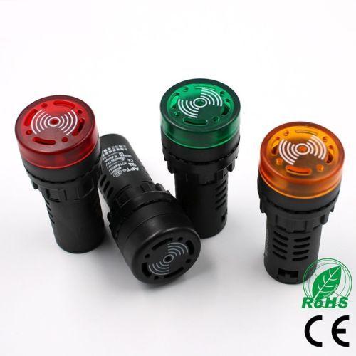 1x AD16-22SM 12 V 24 V 110 V 220 V 380 V 22mm Flash-Signal Licht rote LED Akt...