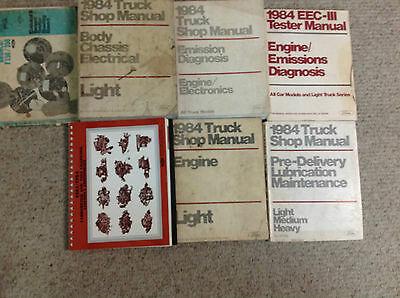 1984 Ford F-150 F150 250 350 F350 Bronco Truck Service Shop Repair Manual Set