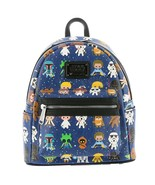 Loungefly Disney Star Wars Character Mini Backpack Navy-Multi