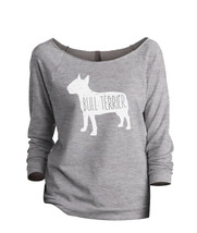 Thread Tank Bull Terrier Dog Silhouette Women's Slouchy 3/4 Sleeves Raglan Sweat - $24.99+