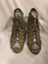 Vince Camuto Estie Women US 9 Taupe Sandals Cut Out Shoes Womens Heels Lace Up - $49.17
