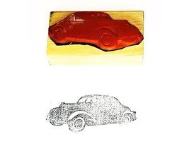 Collector Car Rubber Stamps Unknown Model Automobile Rubber Stamp