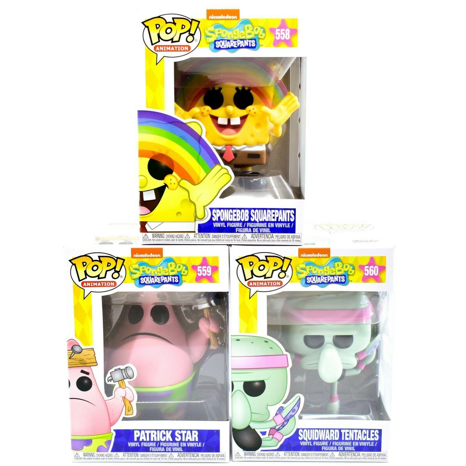Funko Pop! Complete Set Spongebob Squarepants Patrick Star Squidward Tentacles