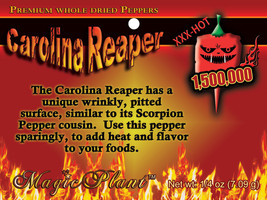 Carolina Reaper Peppers - Whole Dry Reaper Pepper Pods - High Quality (5... - $9.46+