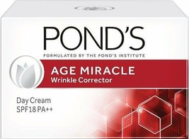 Ponds Age Miracle  Wrinkle Corrector Day Cream  SPF 18 PA++  10 GM  Ponds - $6.72