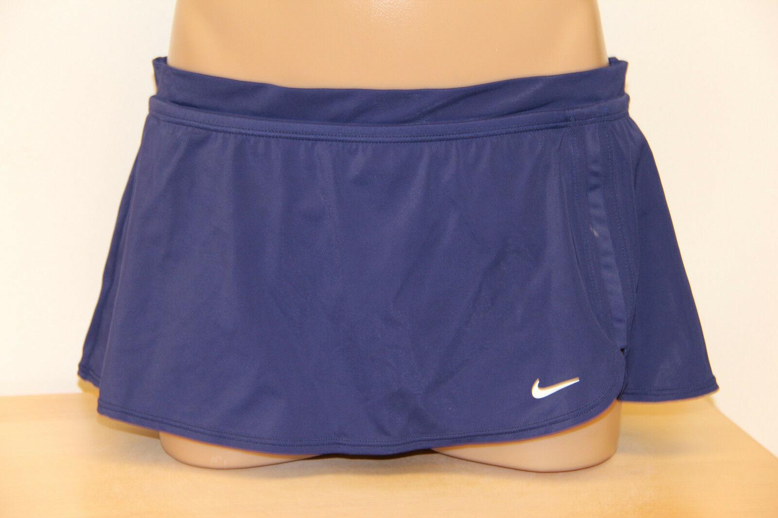 New Nike Swimsuit Bikini Skirted Bottom Skirt Navy Size 14