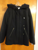 Surface to Air Cocoon Oversized Navy Blue Wool Cashmere Hooded Coat 38 M APC - $375.00