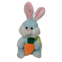Hug & Luv Easter Bunny Blue Rabbit Plush Holding Carrot Stuffed Animal 2... - $24.75