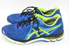 Asics mens Running Shoes Sneakers 11.5 T500N Neon Yellow Bright Blue - $59.50