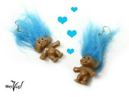 Blue Hair Troll Doll Earrings - Make Me Happy !  Retro Vintage from the ... - $10.00