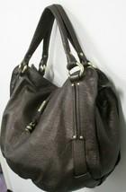 """CELINE  Brown Textured Leather """"Bittersweet"""" Hobo/Shoulder Bag in Brown  - $669.99"""