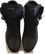 SALVATORE FERRAGAMO MENS BLACK & BROWN LEATHER HIGH TOP SNEAKERS 11 D / ... - $280.16
