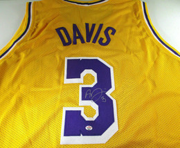 ANTHONY DAVIS / AUTOGRAPHED LOS ANGELES LAKERS CUSTOM BASKETBALL JERSEY / COA image 1