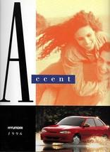 1996 Hyundai ACCENT sales brochure catalog US 96 L GT - $6.00