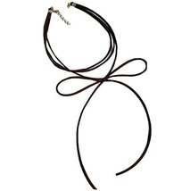 Dark BROWN Bow Neck Strap The Fashion Necklace