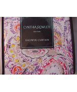 Cynthia Rowley Eaton Paisley Purple Orange Red Yellow Shower Curtain - $39.99