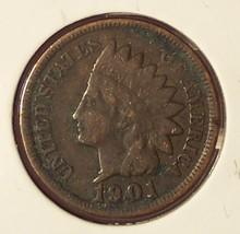 1901 Indian Head Penny Full Liberty Fine #0787 - $3.89
