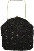 Richere Walborg Vintage Purse  Black Beaded Sequins Convertible Clutch 1... - $54.55