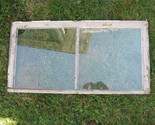 Antique 2 Pane Attic Basement Window Sash 33 5/8 X 17 7/16 Salvaged