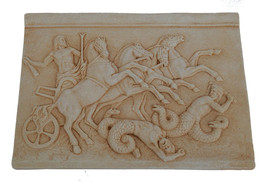Zeus on Chariot sculpture relief - $59.99