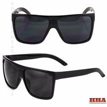 BLACK Oversized Large XL Big Sunglasses Kim Square Flat Aviator Womens - $7.87