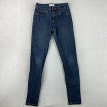 Garage Jeans Juniors Size 1 Blue Jegging Stretch Retro High Waist Pants - $18.95