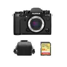 FUJIFILM X-T3 Digital Camera Body Black + 64GB SD card + camera Bag - $1,250.01