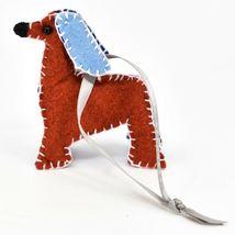 Made 51 Handcrafted Afghan Hound Dog Felt Ornament Refugee Malaysia Folk Art image 3
