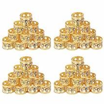 Golden Rule 40 piezas rastas trenzado cuentas con Crystal oro puños de (... - $17.11