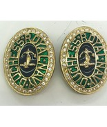 Vintage Carolee Duchess Royal Navy Clip on Earrings  - $93.49