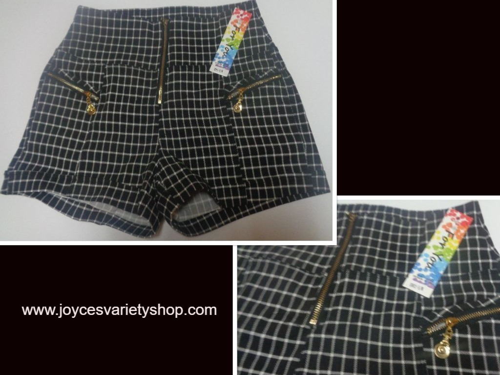 Just for you checkered shorts web collage