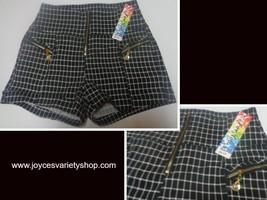 Just For You Black & White Mini Short Shorts Nwt Juniors Sz S - $12.99