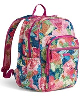 Vera Bradley Quilted Signature Cotton Iconic Campus Backpack, Superbloom image 2