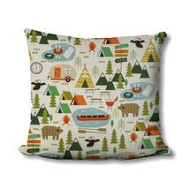 Rupert Aspen Camping Pillow - Children's Room Decor - Wilderness Decor - RV Camp - $20.99