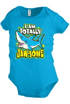 I'M TOTALLY JAW-SOME Shark Baby Infant Snapsuit Unisex Girl Boy Funny K22 - $12.99