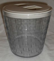 Longaberger Medium Canister Basket Sturdy Plastic Protector W Lid New USA - $17.77