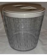Longaberger Medium Canister Basket Sturdy Plastic Protector W Lid New USA - $17.77