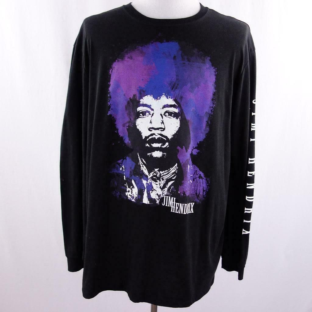 Primary image for Karl Ferris Collection Jimi Hendrix L/S Black Graphic T Shirt Mens Sz 2XL