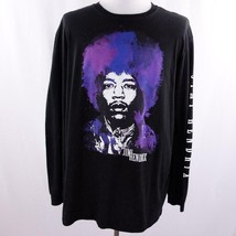 Karl Ferris Collection Jimi Hendrix L/S Black Graphic T Shirt Mens Sz 2XL - $28.93