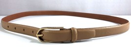 Ralph Lauren Genuine Italian Tan Skinny Leather Belt Women's Size XL - $29.95