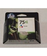 HP 75XL Tri-Color Ink Cartridge CB338WN New Genuine Sealed Box Date: 2012 - $19.55