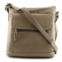 Giani Bernini Front Zip Crossbody Women Bronze Messenger - $34.49