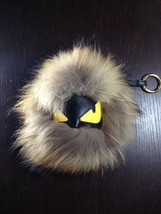 NWT POM POM Genuine Fox FUR MONSTER KEY CHAIN PURSE CHARM XL - $34.65